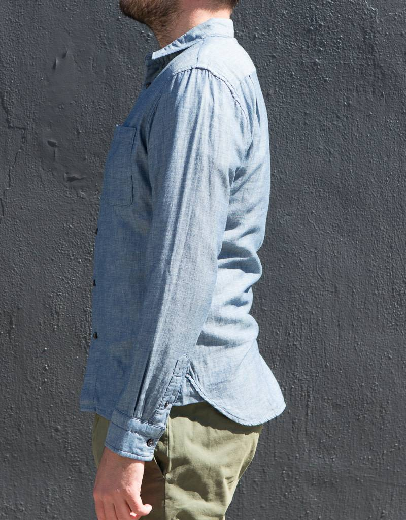Kato Slim French Seam Long Sleeve Shirt- More Colors