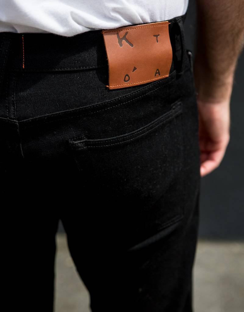 Kato Pen Slim Four Way Stretch Jeans in Raw 10.5 oz. Black