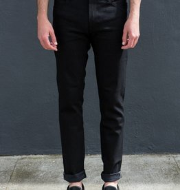 Kato Pen Slim Four Way Stretch Jeans in Raw 10.5 oz. Black