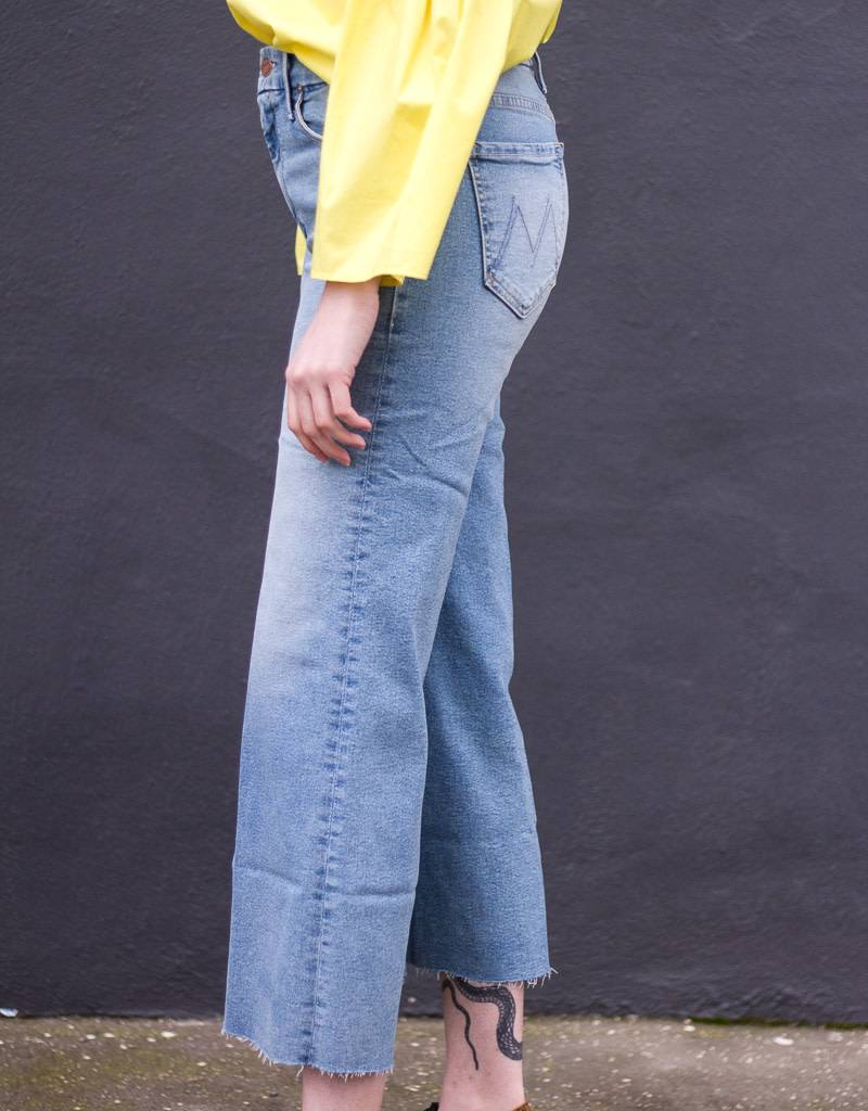Mother Denim Roller Crop Fray Jeans