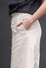 Button Front Knee Length Skirt