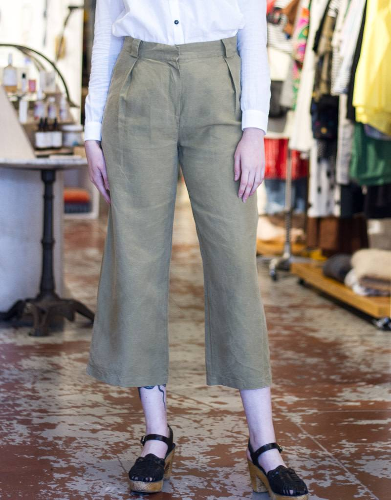 Wide Leg Khaki Pants