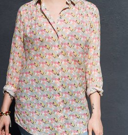 Acote Printed Button Up Blouse