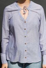 Acote Ruffle Neck Buttonup Shirt