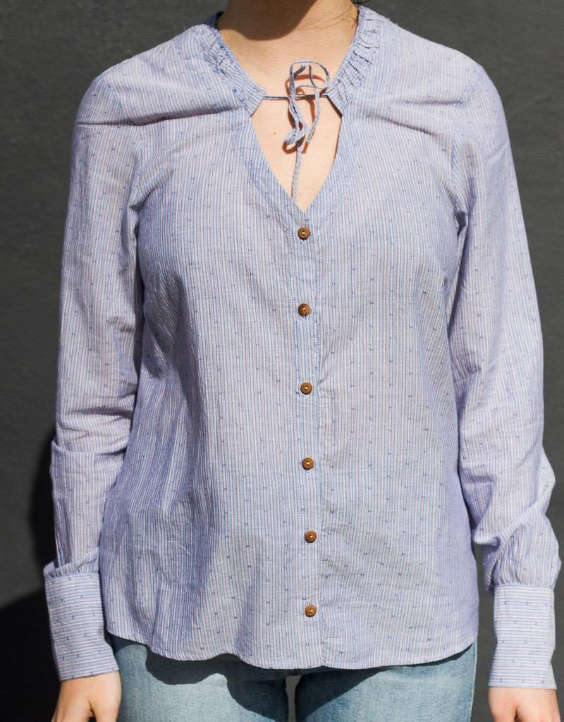 Ruffle Neck Buttonup Shirt