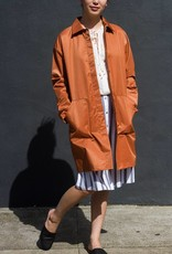 Hidden Placket Trench Coat