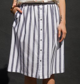 Acote Stripe Buttonup Skirt