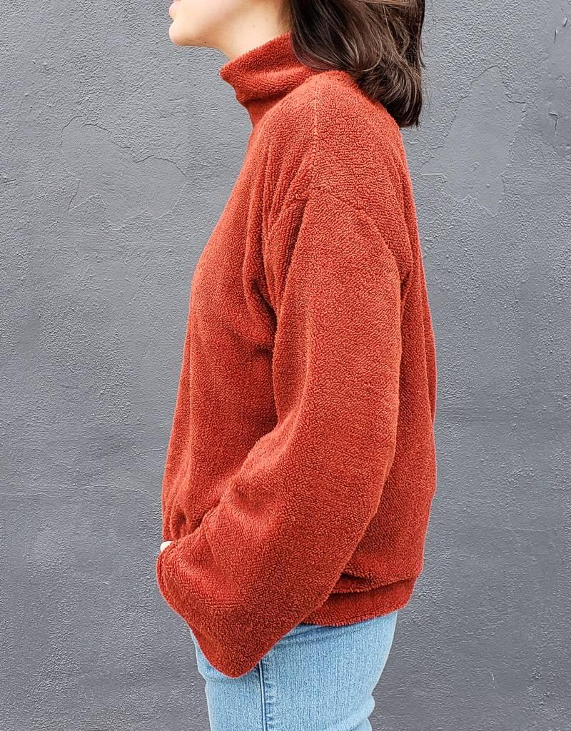 Funnel Neck Sherpa Sweater