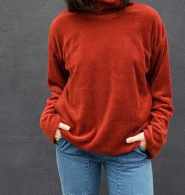 Funnel Neck Sherpa Sweater