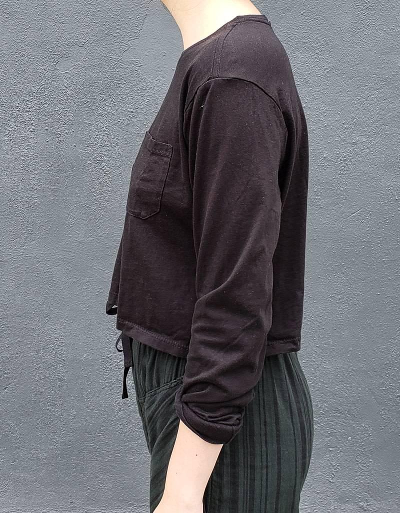 Richer Poorer Long Sleeve Crop Shirt- More Colors