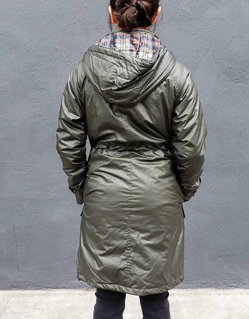 Pendleton Waxed Cotton Hooded A Line Jacket