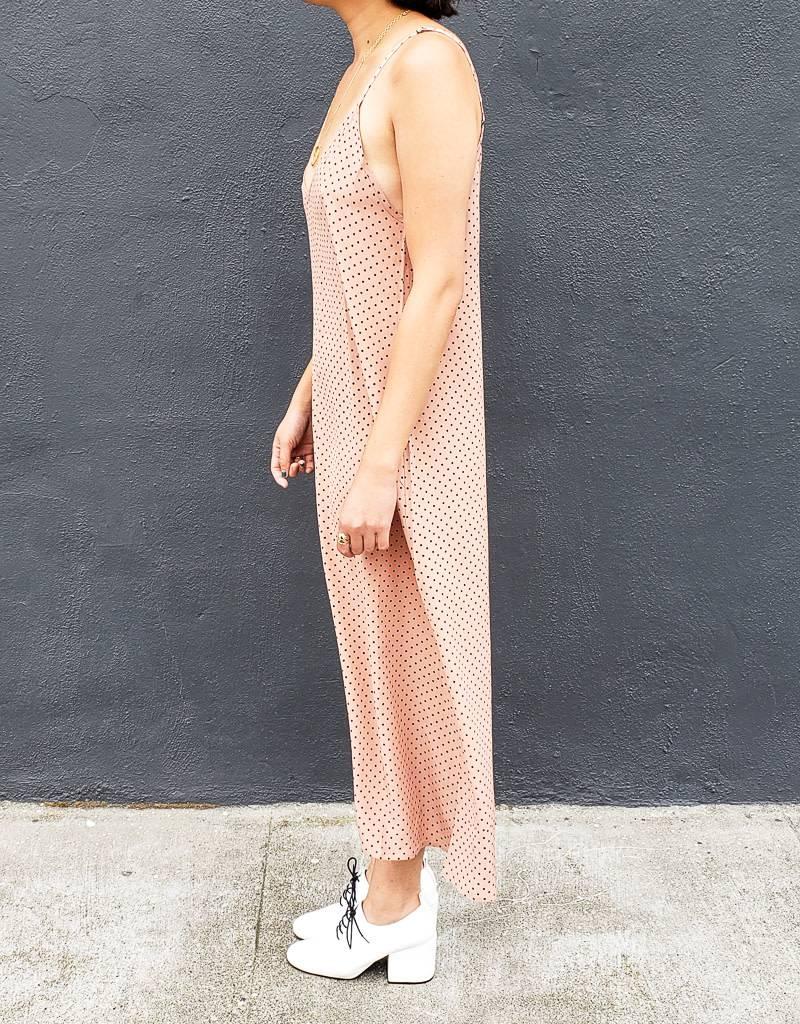 Ali Golden Slip Midi Dress