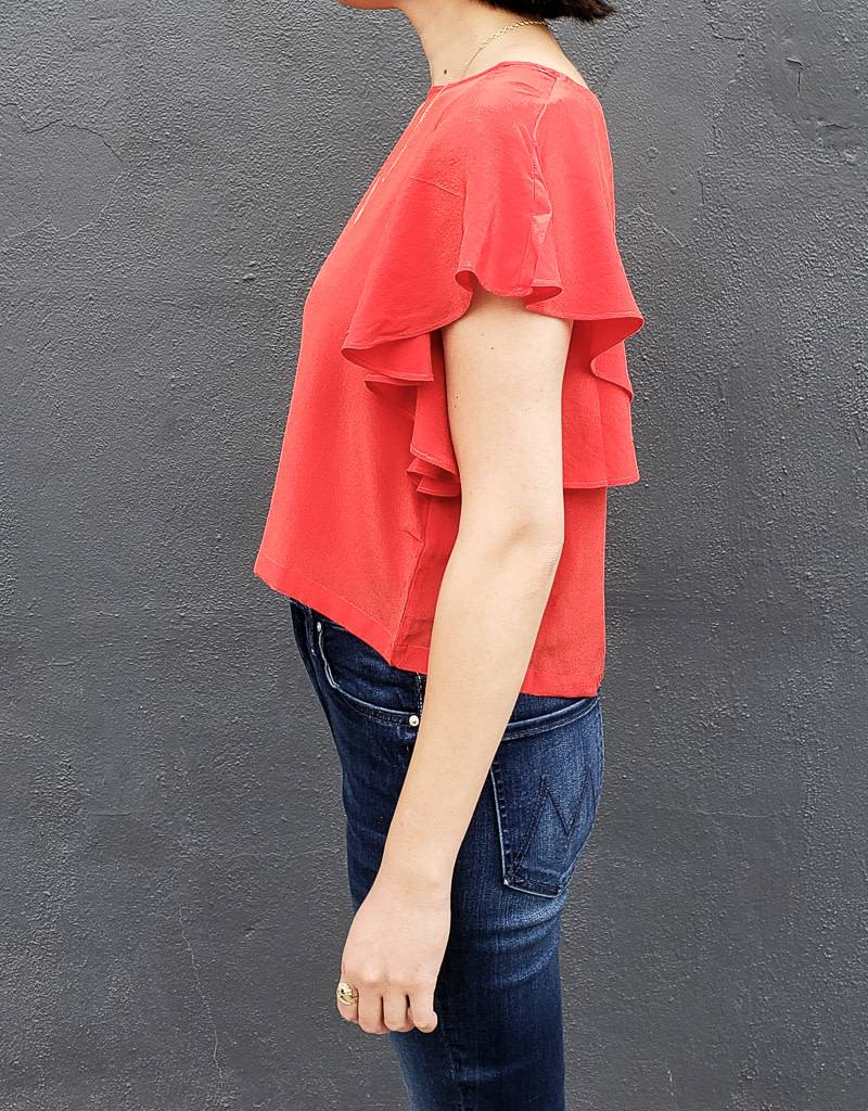 Ali Golden Ruffle Top- More Colors