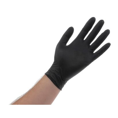 Atlantic Safety Products Black Lightning Powder Free Gloves