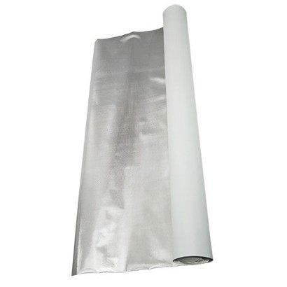 DL Wholesale Inc. 4' x 25' Diamond Foil on White