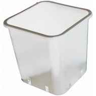 DL Wholesale Inc. 3 Gallon White Square Pot CLEARANCE