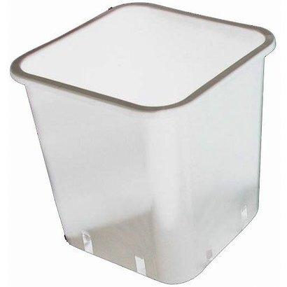 DL Wholesale Inc. 3 Gallon White Square Pot