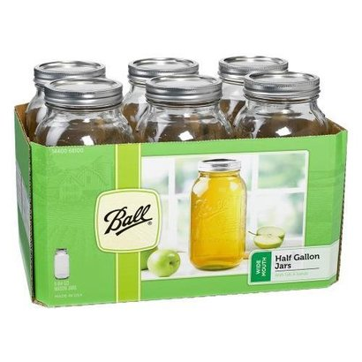 Ball Ball Jars Wide Mouth Half Gallon single