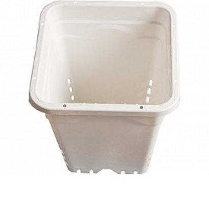 Hydrofarm White Square Pot Single