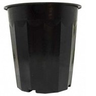Hydrofarm Plastic Planter 16qt Black single