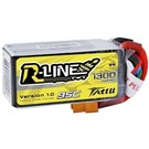 Tattu R-Line 1300mAh 95C 4S1P lipo battery pack with XT60 Plug