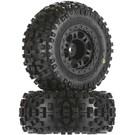 """PRO 1182-22 Badlands SC 2.2""""/3.0"""" M2 Tires Mntd Blk Whls"""