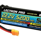 Lectron Pro 22.2V 5200mAh 50C Lipo Battery with XT90 Connector