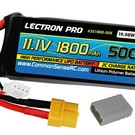 Lectron Pro 11.1V 1800mAh 50C Lipo Battery with XT60 Connector