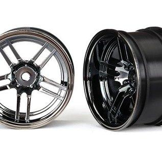 Wheels, 1.9' split-spoke (black chrome) (wide, rear) (2) -