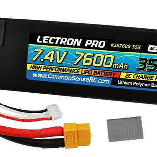 7.4V 7600mAh 35C Lipo Battery with XT60 Connector