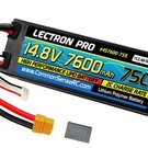 14.8V 7600mAh 75C Hard Case Lipo Battery with XT60 Connector + CSRC