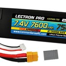 7.4V 7600mAh 75C Lipo Battery with XT60 Connector + CSRC adapter