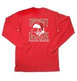 T-Shirt Red Santa Dog Adult Long Sleeve Tee