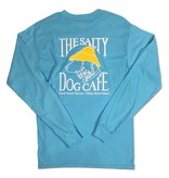 T-Shirt Hanes Beefy Long Sleeve Tee in Blue Horizon
