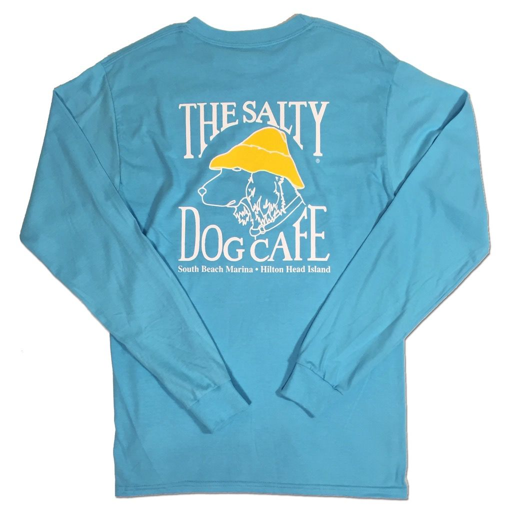 Hanes Hanes Beefy Long Sleeve Tee in Blue Horizon - The Salty Dog Inc