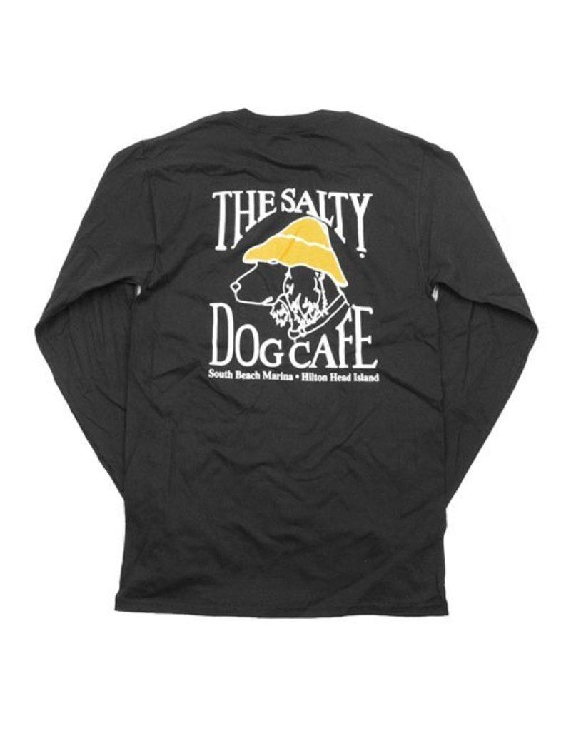 T-Shirt Hanes Beefy Long Sleeve Tee in Black