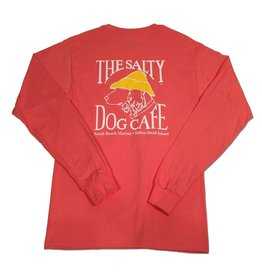 T-Shirt Hanes Beefy Long Sleeve Tee in Charisma Coral