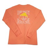 Hanes Hanes Beefy Long Sleeve Tee in Candy Orange