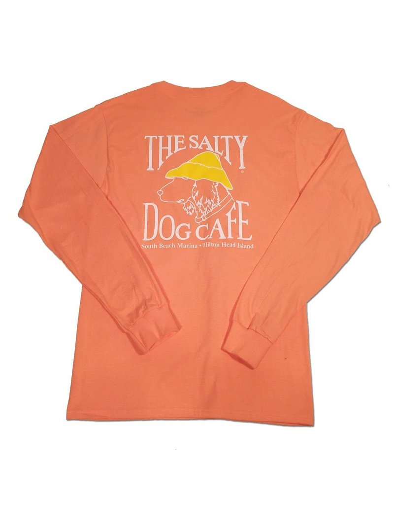 T-Shirt Hanes Beefy Long Sleeve Tee in Candy Orange