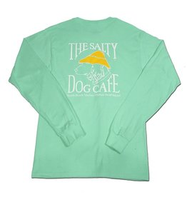 T-Shirt Hanes Beefy Long Sleeve Tee in Clean Mint