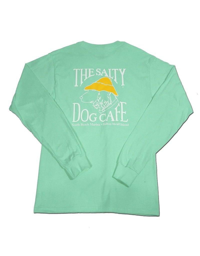 T-Shirt Hanes Beefy Long Sleeve Tee in Clean Mint
