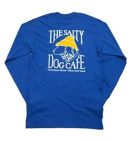 T-Shirt Hanes Beefy Long Sleeve Tee in Deep Royal