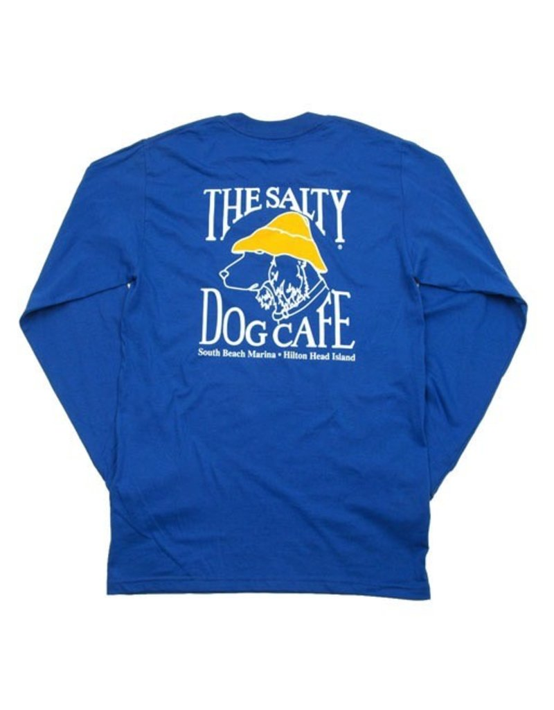 Hanes Hanes Beefy Long Sleeve Tee in Deep Royal