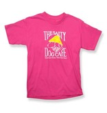Hanes Youth Short Sleeve in Wow Pink