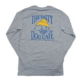 T-Shirt Hanes Beefy Long Sleeve Tee in Light Steel