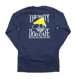 T-Shirt Hanes Beefy Long Sleeve Tee in Navy