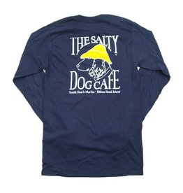 T-Shirt Hanes Beefy Long Sleeve Tee in Navy