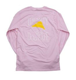 T-Shirt Hanes Beefy Long Sleeve Tee in Light Pink