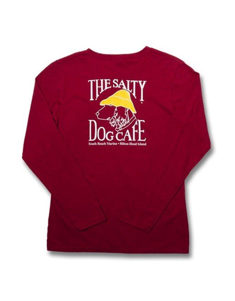 T-Shirt Women's Gildan Long Sleeve Tee in Cardinal