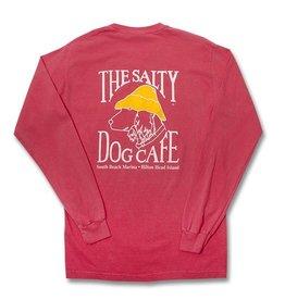 T-Shirt Long Sleeve Comfort Soft Pocket Tee in Watermelon